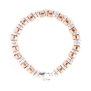 Gorgeous Silver bracelet combined with 14k rolled gold.