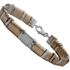 Siliver and gold bracelet