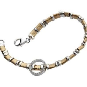 Elegant silver and gold bracelet