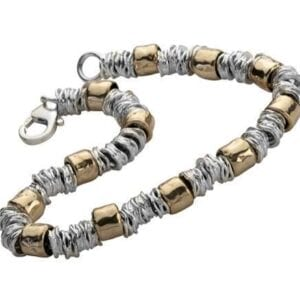 Contemporary silver and gold bracelet