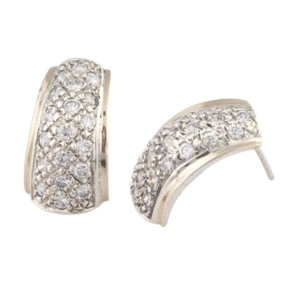 Beautiful earrings with White Topaz gems