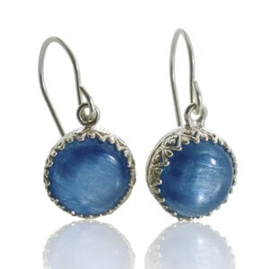 Beautiful Kyanite Gemstones set into Sterling Silver Earrings