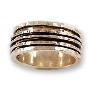 Beautiful hand made revolving ring