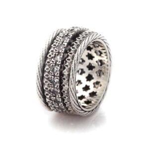 Silver revolving ring