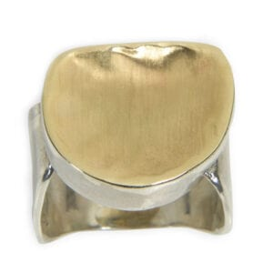 Alluring silver and gold ring