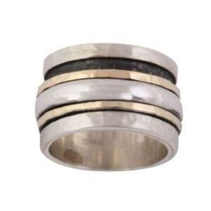 Funky designer revolving ring