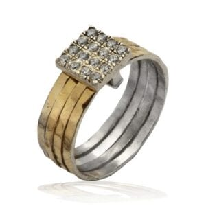 Beautiful silver and gold ring