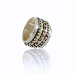 Lovely silver and gold spinning ring