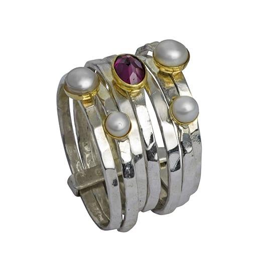 Beautiful multi colour gem ring