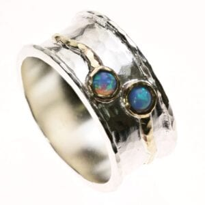 Spectacular silver and gold ring-0