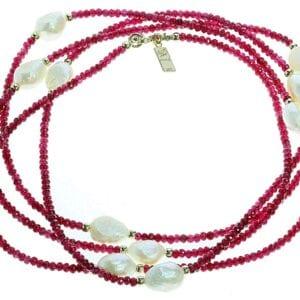 Extra long gemstone necklace-0