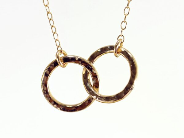Pretty entwined loops necklace-5259