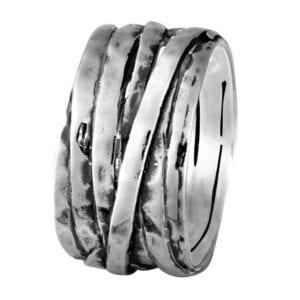 Beautiful wrap around style silver ring-0