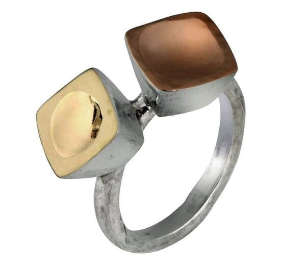 Lovely silver & gold ring-0