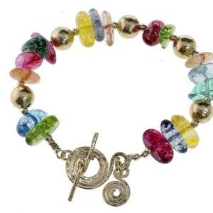 Magnificent Multi Colour Gemstone Bracelet-0