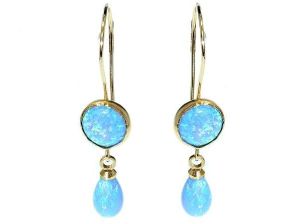 Beautiful opal drop earrings-0