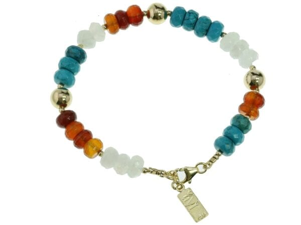 Multi colour gemstone bracelet-0
