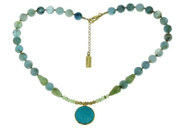 Multi Colour Gemstone Necklace-0