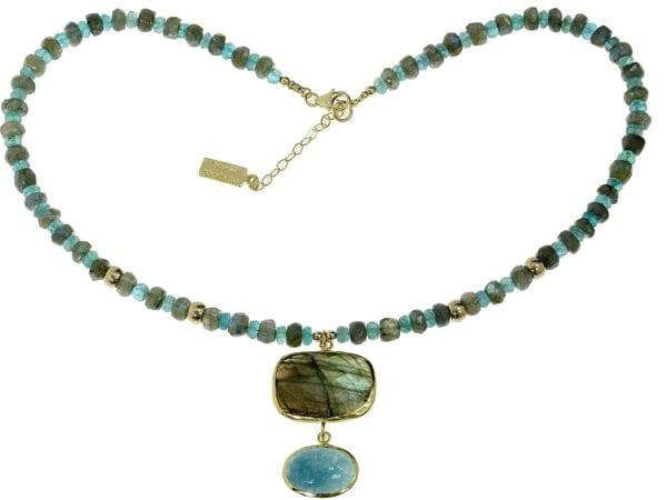 Beautiful Multi Colour Gemstone Necklace-0